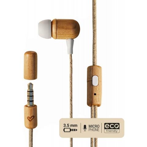 ENERGY SISTEM Ενσύρματα Ακουστικά Eco Cherry Wood 45042