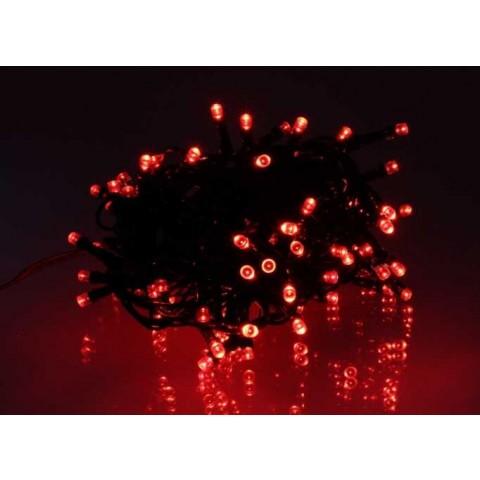 Well Λαμπάκια γιρλάντα φωτός 100 κόκκινες λυχνίες LED με πράσινο καλώδιο