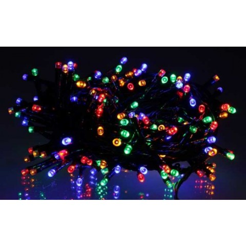 Well Λαμπάκια γιρλάντα με 180 πολύχρωμα LED με πράσινο καλώδιο