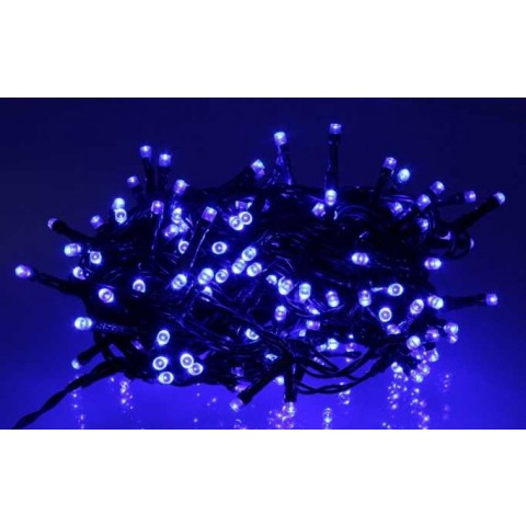 Well Λαμπάκια γιρλάντα με 180 μπλε LED με πράσινο καλώδιο