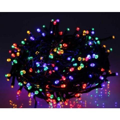 Well Λαμπάκια γιρλάντα με 240 πολύχρωμα LED με πράσινο καλώδιο