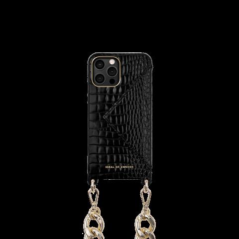 IDEAL OF SWEDEN για το iPhone 12/12 Pro Statement Phone Necklace Case Chain Neo Noir Croco IDNCAW20-2061-236