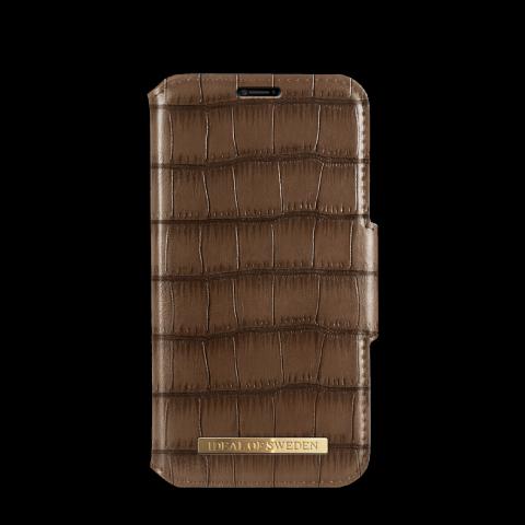 IDEAL OF SWEDEN Θήκη iPhone XR Capri Wallet Brown Croco IDFW-I1861-CAP-03