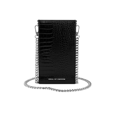 IDEAL OF SWEDEN τσαντάκι Ella Phone Pouch Glossy Black Croco IDPPSS21-274
