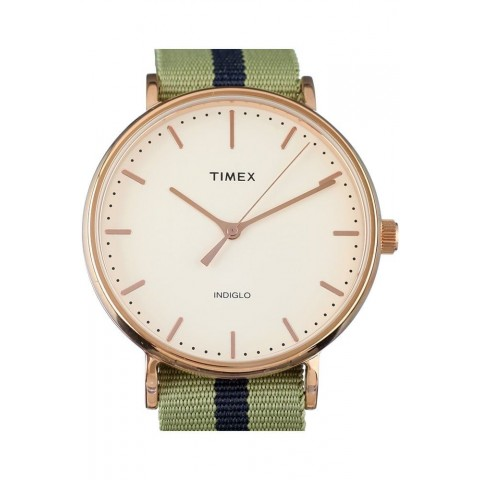 Timex Ανδρικό Ρολόι Archive White/Green ABT526