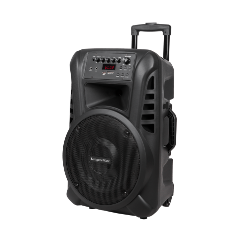 Kruger&Matz Φορητό ενεργό ηχείο 40 W με 2 ασύρματα μικρόφωνα UHF, SD, Bluetooth, FM, USB KM1712