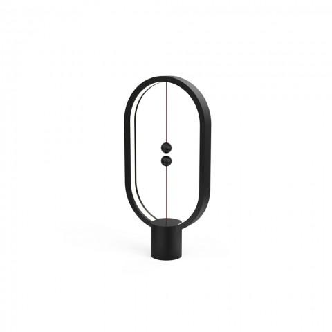 Allocacoc Heng Balance Type-C |Plastic Lamp Ellipse| Διακοσμητική λάμπα με μαγνητικό διακόπτη (Μαύρο)