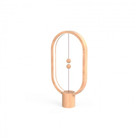 Allocacoc Heng Balance |Wooden Lamp Ellipse| Διακοσμητική λάμπα με μαγνητικό διακόπτη (Light Wood)