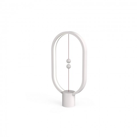 Allocacoc Heng Balance Type-C |Plastic Lamp Ellipse| Διακοσμητική λάμπα με μαγνητικό διακόπτη (Λευκό)