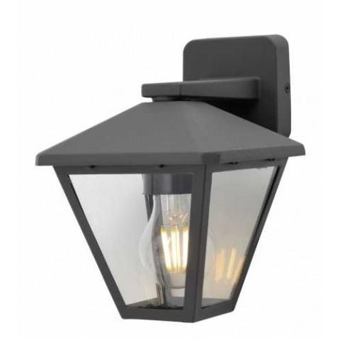 Well Φωτιστικό τοίχου εξωτερικού χώρου Firenze E27 60W IP44 σκούρο γκρι LEDWL- FIRENZE- DDGY-WL