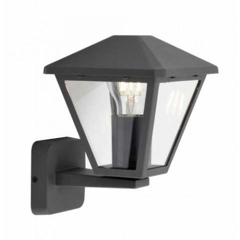 Well Φωτιστικό τοίχου εξωτερικού χώρου Firenze E27 60W IP44 σκούρο γκρι LEDWL- FIRENZE- UDGY-WL