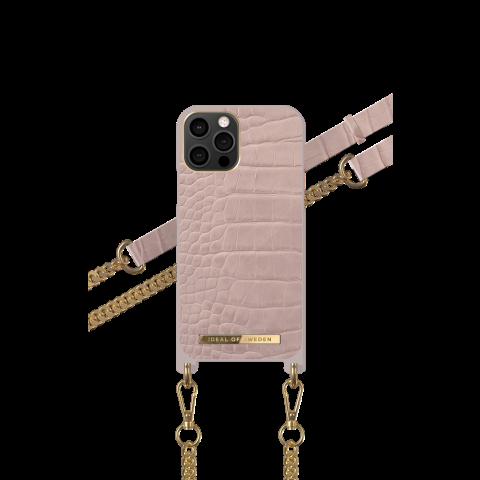 IDEAL OF SWEDEN Θήκη Λαιμού iPhone 12/12 Pro Case Misty Rose Croco IDNCSS20-I2061-211