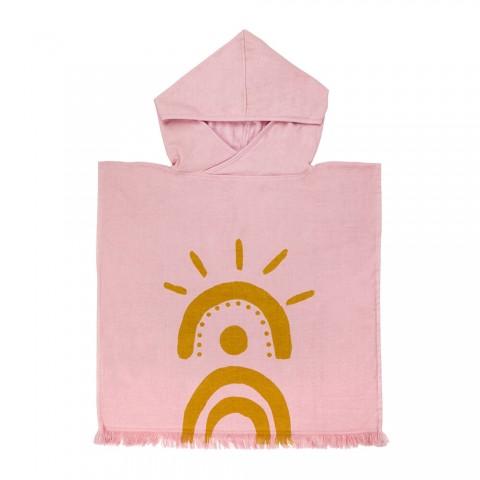 Sunnylife Πετσέτα - Πόντσο για παιδιά Beach Poncho Desert Palms - Powder Pink S1VHOFDE