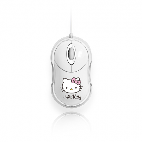 BLUESTORK HELLO KITTY Οπτικό Ποντίκι LED BUMPY Λευκό BS-MBUMPY/KITTY/W