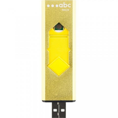 ABC Tech Επαναφορτιζόμενος ηλεκτρικός αναπτήρας Κίτρινο 189119