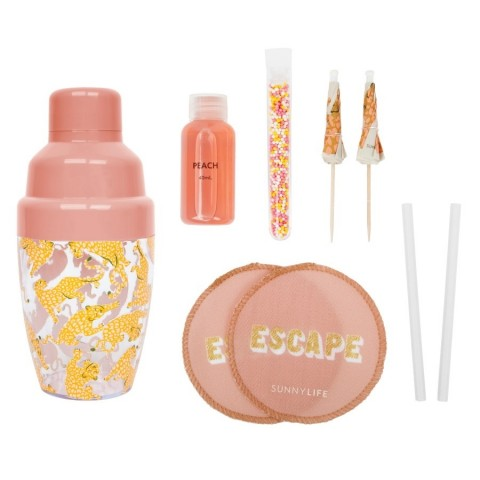 Sunnylife Carry On Cocktail Kit Call Of The Wild - Peachy Pink S1UCARCW