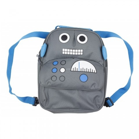 MY DOODLES Childrens Robot Backpack Γκρι DDBPROB