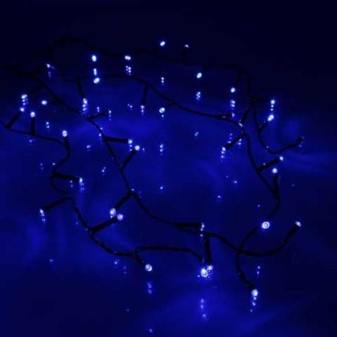 Well Λαμπάκια τύπου κουρτίνα 100 μπλε LED με μαύρο καλώδιο