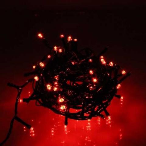 Well Λαμπάκια γιρλάντα με 180 κόκκινες λυχνίες LED με πράσινο καλώδιο