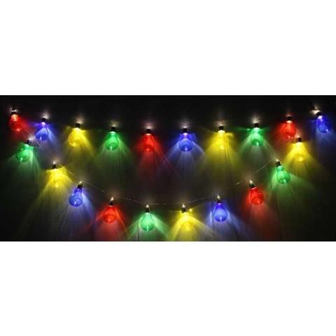 Well Λαμπάκια γιρλάντα 20 πολύχρωμα LED με διαφανές καλώδιο
