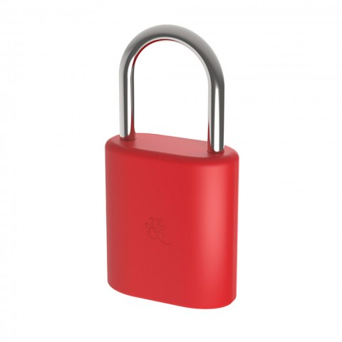 DOG-BONE Bluetooth Λουκέτο για Smartphones Mini Κόκκινο DAB-LSM006
