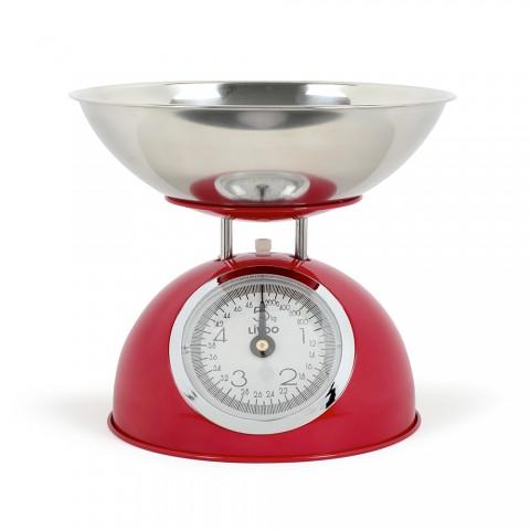 LIVOO αναλογική ζυγαριά κουζίνας Ρετρό κόκκινη DOM443R