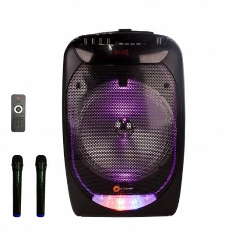 N-Gear Aσύρματο ηχείο Bluetooth 300 Watt με USB,SD και AUX με 2x ασύρματα μικρόφωνα The Flash 1210