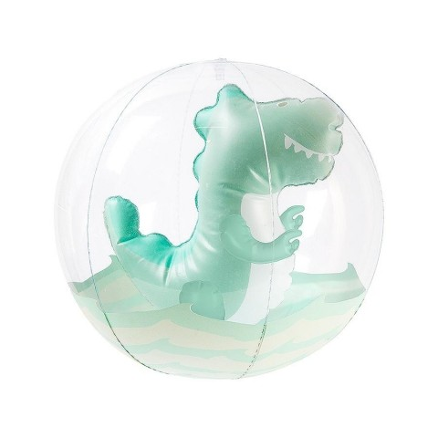 Sunnylife Μπάλα θαλάσσης Inflatable 3D Beach Ball Surfing Dino - Clear S1PB3DSU