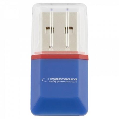 Esperanza MicroSD CARD READER BLUE USB 2.0 EA134B