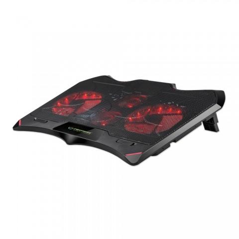 Esperanza Βάση Στήριξης και Ψύξης για Λάπτοπ Gaming Notebook Cooling Pad Buran EGC102