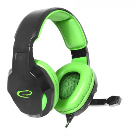 Esperanza Ακουστικό με μικρόφωνο COBRA Πράσινο EGH350G