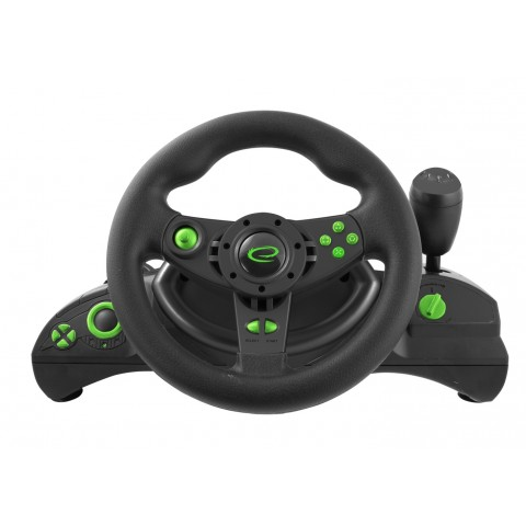 Esperanza Τιμονιέρα με πετάλια για PC / PS3 ,μαύρο-πράσινο EGW102