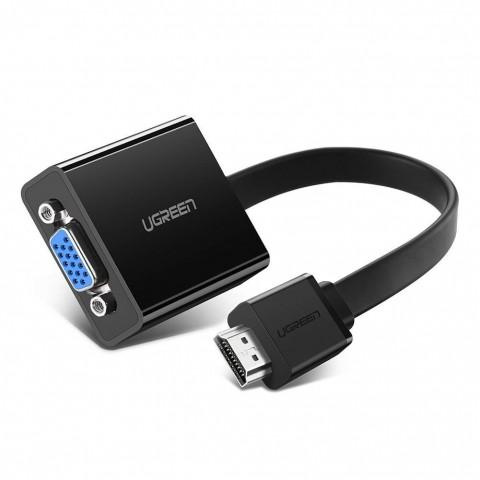 Ugreen Αντάπτορας HDMI σε VGA με Υποδοχές 3.5mm Jack Ήχου &amp Micro USB 40248 - Μαύρο