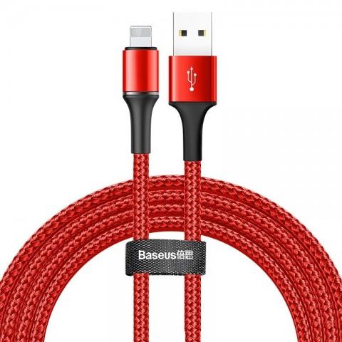 Baseus Halo Braided USB to Lightning Cable Κόκκινο 2m CALGH-C09