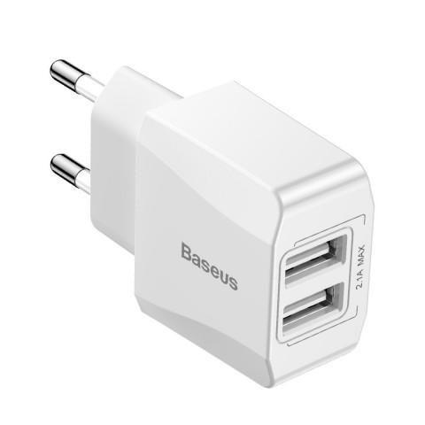 Baseus 2x USB Wall Charger Λευκό (Mini Dual-U) CCALL-MN02