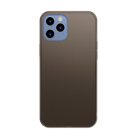 Baseus Frosted Glass Back Cover Σιλικόνης Μαύρο (iPhone 12 Pro Max) WIAPIPH67N- WS01