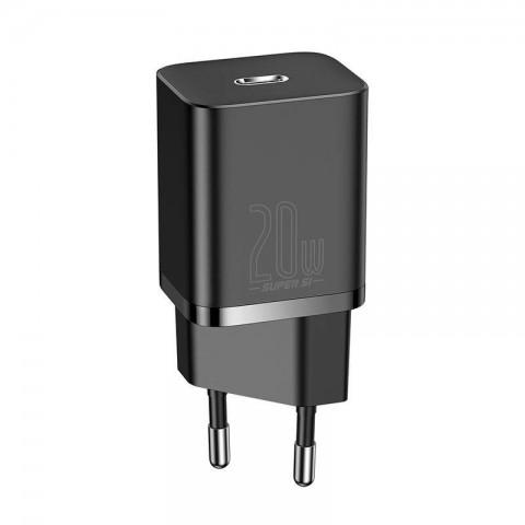 Baseus Super Si φορτιστής τοίχου 20W PD USB-C - Μαύρο CCSUP-B01