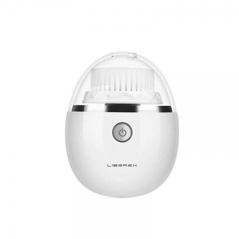 Liberex Βούρτσα Καθαρισμού Προσώπου Egg Sonic Vibrating Facial Cleansing Brush 3 Heads with 3 Modes IPX6 Waterproof - Άσπρο