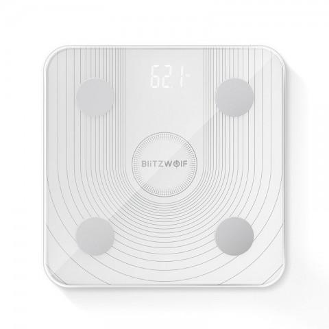 BlitzWolf Smart Ζυγαριά με Λιπομετρητή σε Λευκό χρώμα BW-SC1