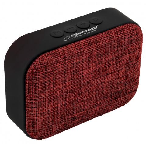 Εsperanza Bluetooth Ηχείο Κόκκινο Με Υφασμα speaker Samba FM Red EP129R