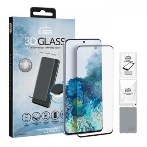 Eiger 3D Glass προστατευτικό τζάμι για Samsung Galaxy S20+ Clear/black EGSP00567