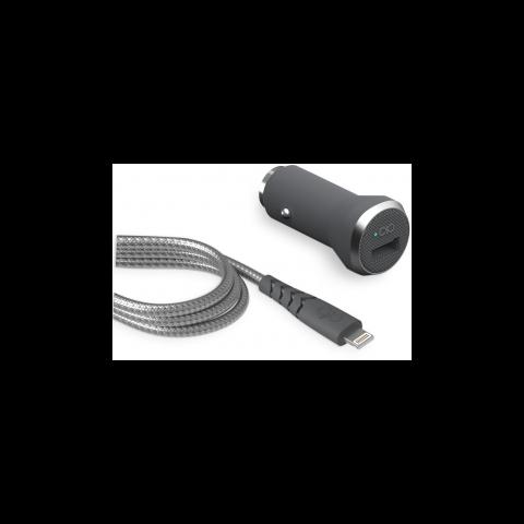 FORCE POWER Φορτιστής Αυτοκινήτου & καλώδιο USB/Lightning 1.2m FPCACMF112