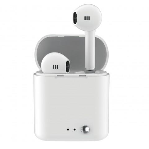 LEDWOOD True wireless Ακουστικά TWS Magnetic Strap Άσπρα LD-T14-PAK2-TWS-WHI