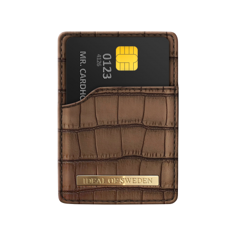 IDEAL OF SWEDEN Universal Magnetic Card Holder Mono Brown Capri  IDMCH-CAP-03