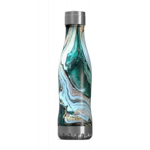 IDEAL OF SWEDEN Glacial Bottle Golden Jade Marble GLCBTL-98