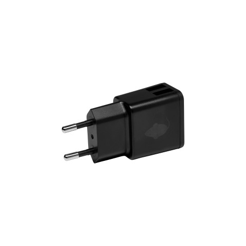 Green Mouse Φορτιστής τοίχου USB Διπλός- 2.4A Μαύρος 46956583