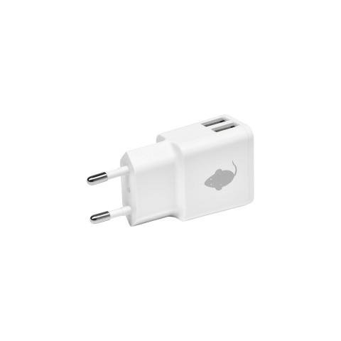 Green Mouse Φορτιστής τοίχου Διπλός- 2.4A  Ασπρος 46956552