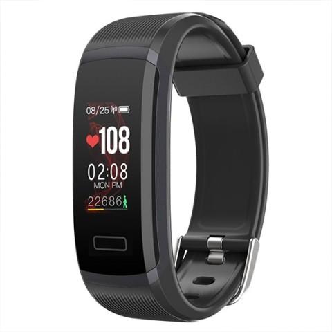 Oaxis TENVIS HR- Smart Band με Heart Rate και HD έγχρωμη οθόνη Μαύρο HB3101SA-BK01