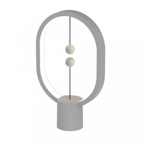 Allocacoc Heng Balance Mini |Plastic Lamp Ellipse| Διακοσμητική λάμπα με μαγνητικό διακόπτη (Light Grey)