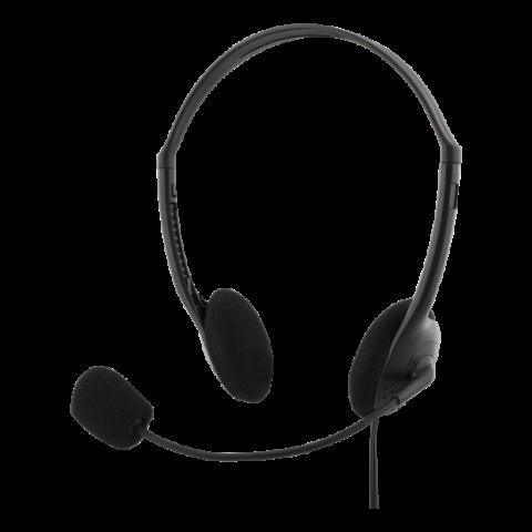 Deltaco Stereo Headset με μικρόφωνο , 2x 3,5mm, black HL-2